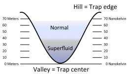 Watching a gas turn superfluid