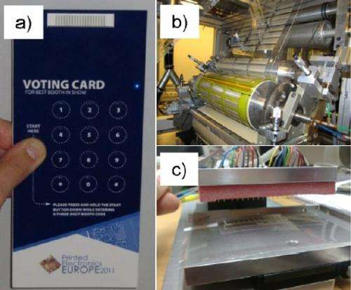 Roll-to-roll process prints thousands of cheap, flexible memory elements