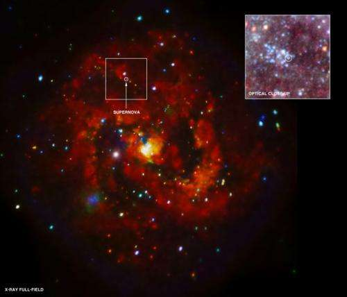 X-rays discovered from young supernova remnant