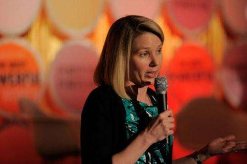 Yahoo! chief executive Marissa Mayer is pictured in May
