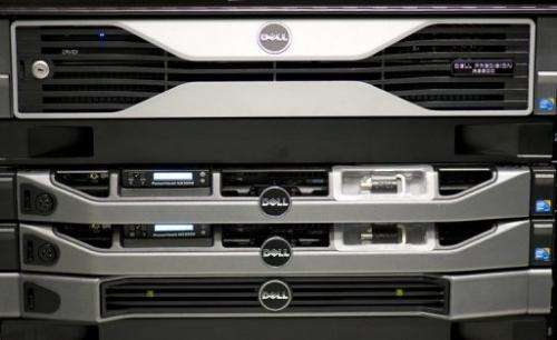 A Dell Precision R5500 Rack-mounted workstation is seen on March 6, 2012 in Hanover, central Germany
