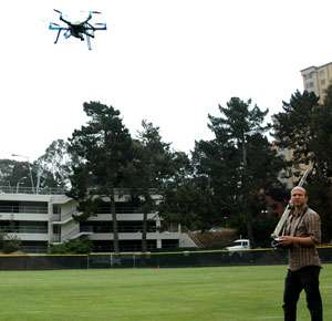 Aerial 'hexacopter' gives geography research a lift