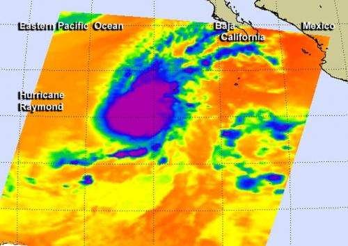 An eye-opener: NASA sees Hurricane Raymond reborn for a brief time