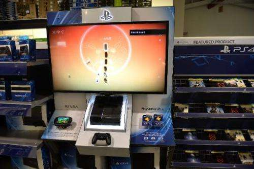 A Sony PlayStation 4 game console display in a Best Buy store on the upper East Side of Manhattan in New York on November 14, 20