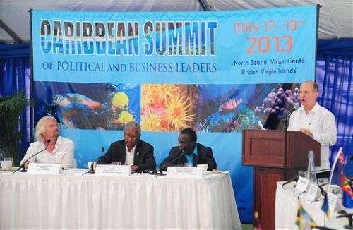 Caribbean talks conservation on Branson's island