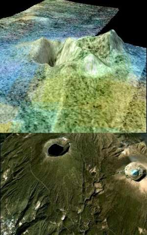 Changes in Titan's surface brightness point to cryovolcanism