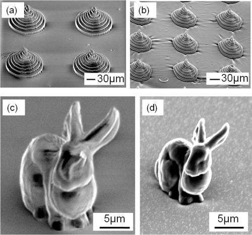 Charred micro-bunny sculpture shows promise of new material for 3-D shaping