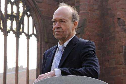 Climatologist Dr James Hansen, former head of the NASA Goddard Institute for Space Studies, poses during a photocall in Coventry
