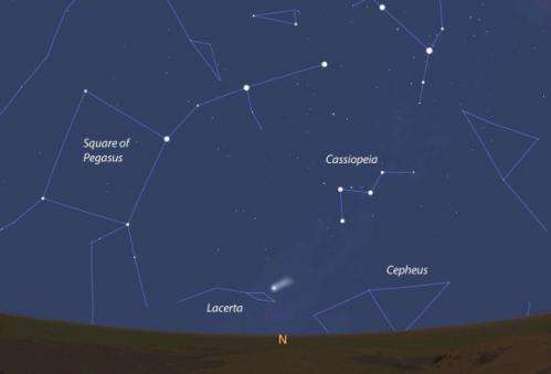 Comet ISON goes green
