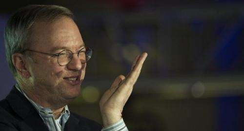 Eric Schmidt, Google's executive chairman, responds to questions on April 26, 2013