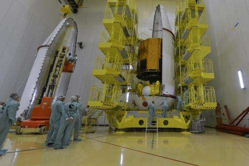 Gaia secured inside fairing