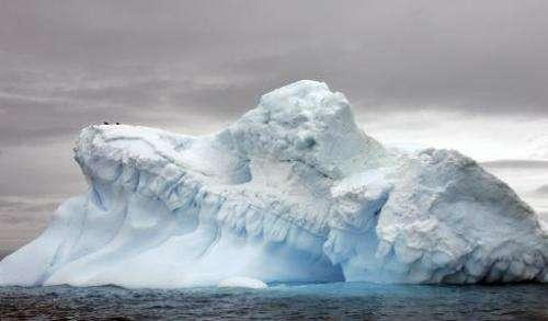 Glaciers in Antartica on November 9, 2007