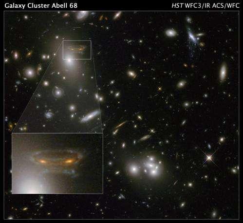 Gravitational telescope creates space invader mirage