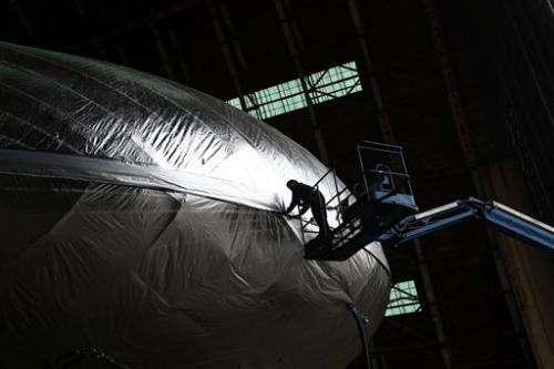 High-tech cargo airship being built in California