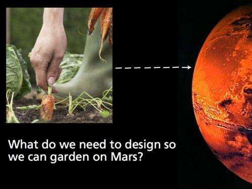 How to plant a garden on Mars—with a robot