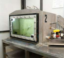 Hydraulic chamber tests fish survival
