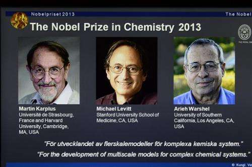 Karplus, Levitt, Warshel win Nobel chemistry prize