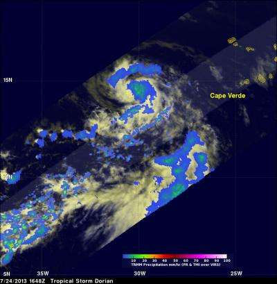 NASA puts Tropical Storm Dorian in the infrared spotlight