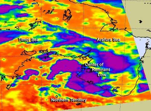 NASA sees Ex-Tropical Cyclone Alessia's remnants trying to reorganize