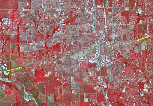 NASA spacecraft sees tornado's destructive swath