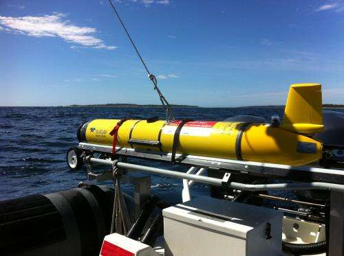 Ocean-sampling robot gliders tracking animals, providing storm data