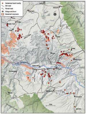 Scientists establish a mammalian biostratigraphy in the Zanda Basin, southwestern Tibet