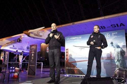 Solar-powered plane plans flight across US