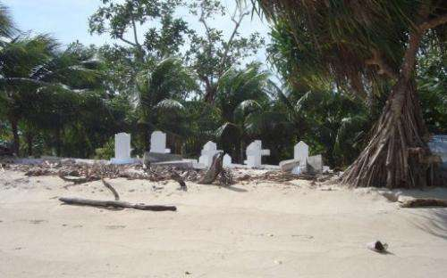 The effects of the climate change are seen at Marshall Islands' atoll of Ailinglaplap