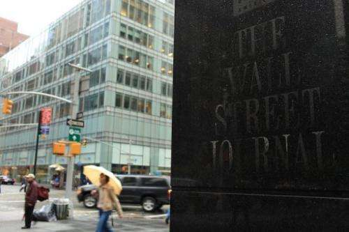 The headquarters of The Wall Street Journal on April 26, 2010 in New York City