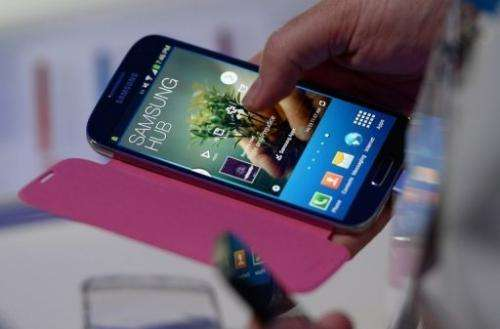 The Samsung Galaxy S 4 smartphone, which launched on April 23, 2013