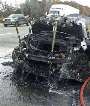 Third fire in Tesla Model S reported