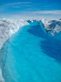 Tracers reveal hidden rivers beneath ice-sheet