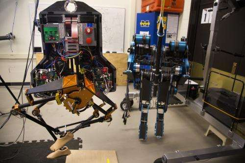 Two-legged robot walks outside at U-Michigan