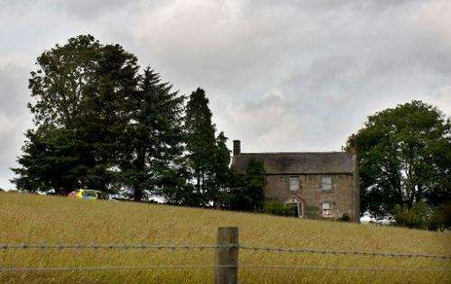 File picture shows farm buildings pictured near Otterburn in northeast England on July 8, 2010.