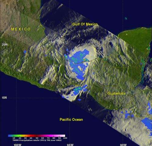 NASA satellites watch the demise of Hurricane Barbara