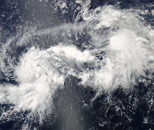 NASA sees Tropical Storm Pewa develop in central Pacific