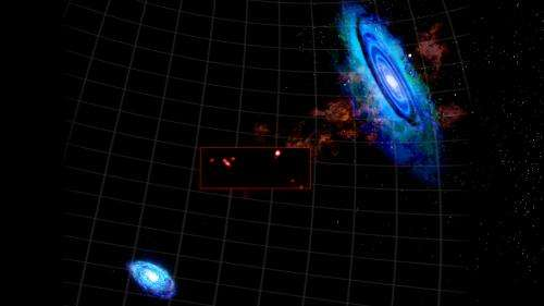 Astronomers discover surprising clutch of hydrogen clouds lurking among our galactic neighbors