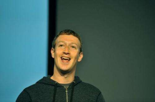 Facebook CEO Mark Zuckerberg speaks during a media event at Facebook's headquarters in California on March 7, 2013