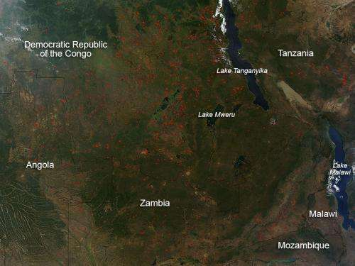 Agricultural fires in Africa