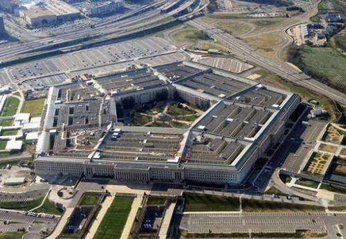 An aerial view on December 26, 2011 of the Pentagon building in Washington
