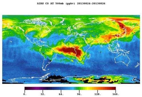 NASA 'eyes' dissect California's massive rim fire