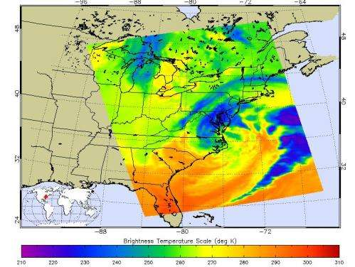 NASA provides satellite views of Nor'easter on March 7, 2013