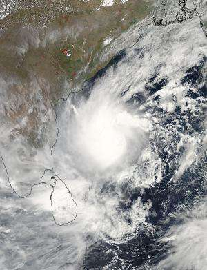 NASA sees a strengthening Tropical Cyclone Mahasen