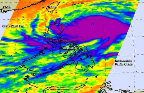NASA sees super typhoon affecting Philippines and Taiwan, headed to China
