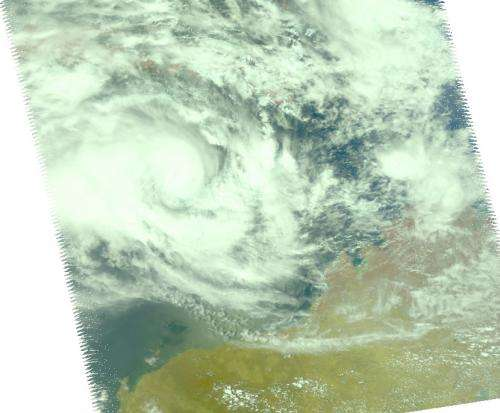 NASA sees Tropical Cyclone Narelle intensifying
