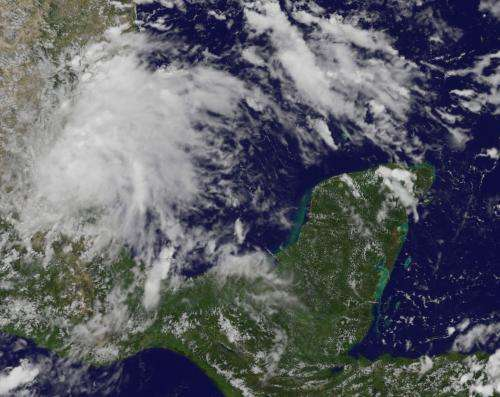 Satellite sees Atlantic Tropical Depression 8 form in southwestern Gulf of Mexico