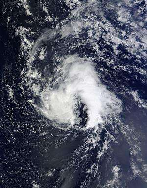 Tropical Storm Humberto makes an 'A' for Atlantic on satellite imagery