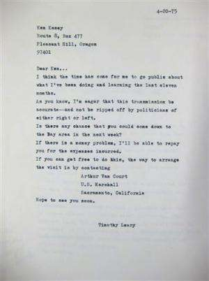 What a trip: Timothy Leary's files go public in US
