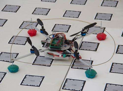 Quadcopter piloted by a smartphone