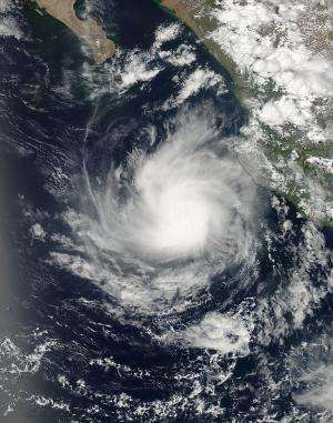 NASA satellite sees Dalila become a hurricane in Eastern Pacific
